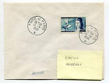 FRANCE - 1955, timbre 1012, SEUL SUR LETTRE, P. LE BON, FOIRE PARIS, oblitéré