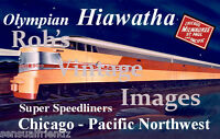Milwaukee Road Olympian Hiawatha Poster CMSP  Railroad Train Ad Erie Built