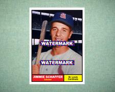 Jimmie Schaffer St Louis Cardinals 1961 Style Custom Baseball Art Card