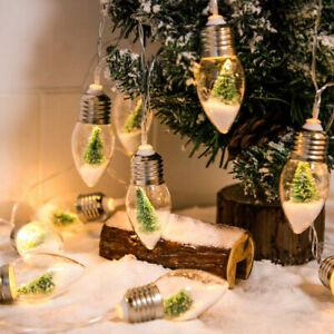 DIY Christmas Light String Tree Decor Xmas Snow Globe Light Outdoor Lamp Decor-L