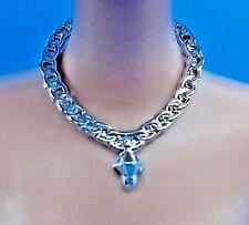 Barbie Jewelry Glam Luxe Style Doll Metallic Silver Teardrop Necklace Accessory