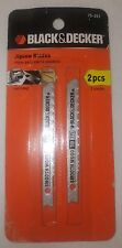 Black & Decker 2 Pc Smooth Cutting Wood Jig Saw Blade Part #75-251