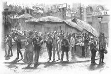 BOUCHES-DU-RHÔNE. Marseille. La vente des fraises 1880 old antique print