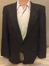 Jones New York NEW Black & Camel Sport Coat Men 42L Wool Jacket 2 Button Blazer