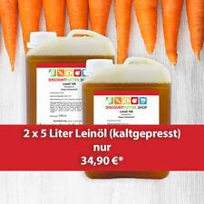 2 x 5 l Leinöl aus hochwertiger Leinsaat - kaltgepresst nur 34,90€ inkl. Versand