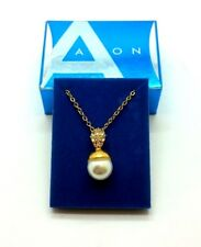 AVON Gold Plated Necklace Jewellery Pearl Pendant Wedding Party Acessories Gift