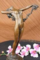 Female Bronze Nude Figurine Statue Naked Classic Lady Art Deco Sculpture DECOR