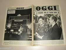 OGGI=1960/44=FARAH DIBA=REZA PAHLAVI=PAGANI=ALFREDO MALAGOLA=FABIO CUDICINI=