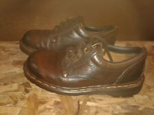 DOC MARTENS BROWN LEATHER MADE IN ENGLAND SHOES SZ UK 5  US MENS 6 US WOMENS 7