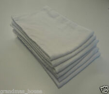 Plain White Burp Cloths -  SIX PACK - Toweling Backed GREAT GIFT IDEA!!
