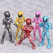 Power Rangers PVC Action Figures Toy 5 Pieces 3.5-inch Play Gifts Decoration New
