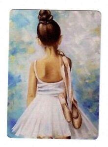 Beautiful Ballerina Girl in a White Tutu - Modern Wide Linen Swap Playing Card