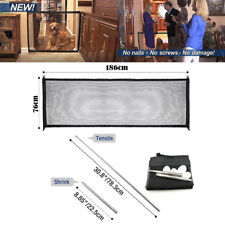 186*76cm Magic-Gate Portable Folding Safety Guard Mesh Magic Net for Pet Dog Cat