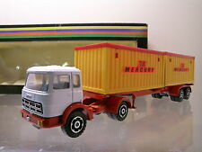 MERCURY ITALY 531 FIAT 692 ART.CONTAINER TRUCK-TRAILER WHITE-RED BOXED  +/ 1:43