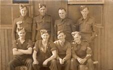 WW2 Unknown Regiment Soldiers Outside Hut RP Postcard British Army