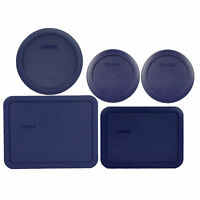 Pyrex (2) 7200-PC (1) 7201-PC (1) 7210-PC (1) 7211-PC Blue Replacement Lid Set