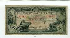 Canada 10 Dollars Bank Of Commerce 1935 F+ Nr 40.00
