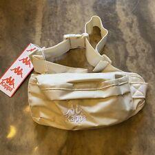 Kappa 222 Banda Grey Beige White Waist Fanny Pack Crossbody Pouch Brand NWT