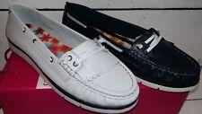 Ladies Heavenly Feet Cherry 2 Leather Deck / Pump Shoes