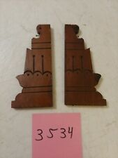 ANTIQUE ORNATE CARVED WOODEN WELCH GINGERBREAD / PARLOR CLOCK SIDE TRIM