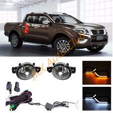 For Nissan Navara NP300 15-2018 Black Cover LED DRL Turn Signal Light Wire j Fog