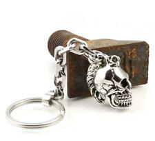 SR01 Skull Schlüssel Anhänger Edelstahl Irokese Biker Harley Chopper Key Chain