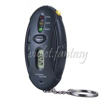 Driver Alcohol Breath Tester Indicates Blood Alcohol Reading Flashlight Key Ring