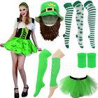 Disfraz Irlandés San DÍA DE Patricks Parade Barra Bailarina Sombrero Calcetines
