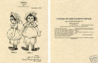 Raggedy Ann US Patent Art Print READY TO FRAME! 1915 Gruelle Doll Anne andy