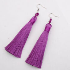 Fashion Boho Tassel Earrings for Women Ethnic Long Dangle Fringe Hook Earrings