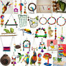 Pet Toy Swing Bird Toy Parrot Rope Harness Cage Hang Toys Parakeet Cockatiel Lot
