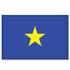 "Texas State Burnet Flag bumper sticker decal 5"" x 4"""