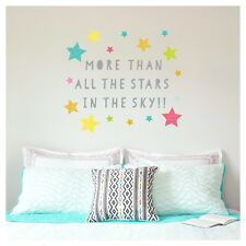 PAPER RIOT I LOVE YOU TO THE MOON AND BACK XL WALL DECALS 3 SHEETS (NEW)