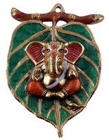 Ganesha Wall Hanging Figure Metal Ganesh Statue Home Vastu Decor God Figurine E1