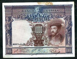 Spain (P70c) 1,000 Pesetas 1925 VF
