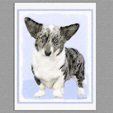 6 Cardigan Welsh Corgi Dog Blank Art Note Greeting Cards