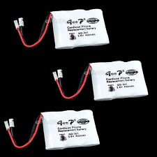 3 PCS Cordless Phone Replacement Battery GD-301 3.6V 400mAh Ni-MH
