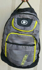 "OGIO Black Neon Green Padded 13"" Laptop Computer School Travel Backpack Bag"
