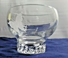 Lenox Fine Crystal Candy Dish With Etched Butterflies