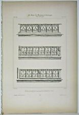 Lithography Balustrades of the Faceplate Southern of the Cathedral of Senlis