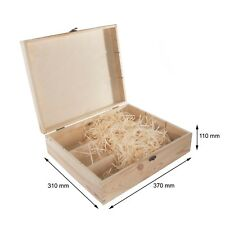 Plain Wooden Wine Box Holds 3 Bottles / Untreated Gift Holder / Hinges & Clasp