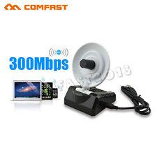 300Mbps USB WiFi Wireless Adapter Dongle 802.11b/g/n Radar Antenna Long Range UK