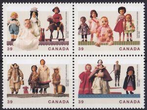 CANP067) Canada 1990, Dolls, block of 4 MUH