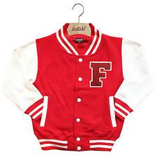 infantil Chaqueta Beisbol Varsity personalizado con verdadero Uni Letra F