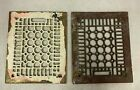 Vintage Antique Cast Iron Floor Wall Grate Grille Registers Vents Lot of 2