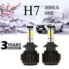 Super Bright 6000K LED H7 360W 300000LM Conversion Beam Bulb Headlight Kit 2Pcs