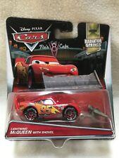 * New Disney Pixar Cars Diecast Lightning McQueen with Shovel Rare HTF