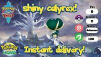 ✨SHINY✨ CALYREX 6IV POKEMON SWORD SHIELD legendary FAST DELIVERY crown tundra