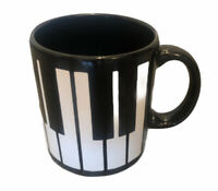 WAECHTERSBACH Mug Black Piano Keys Keyboard Vintage West Germany