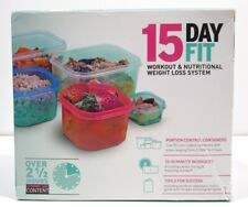 Zumba 15 Day Fit - Weight Loss System DVDs workouts portion control containers